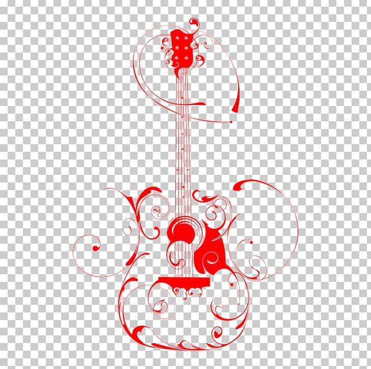 Drawing Of Guitar Art