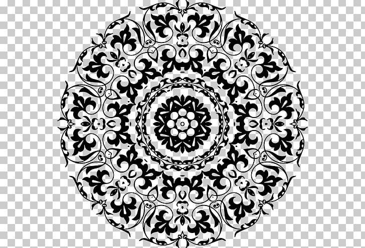 Ornament Decorative Arts PNG, Clipart, Area, Black And White, Circle, Circular, Clip Art Free PNG Download