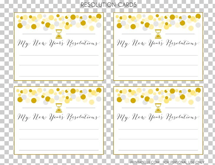 Wedding Invitation New Year S Resolution Greeting Note
