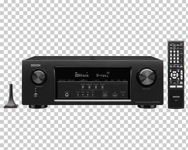 AV Receiver Denon AVR-X1200W DTS Audio PNG, Clipart, 4k Resolution
