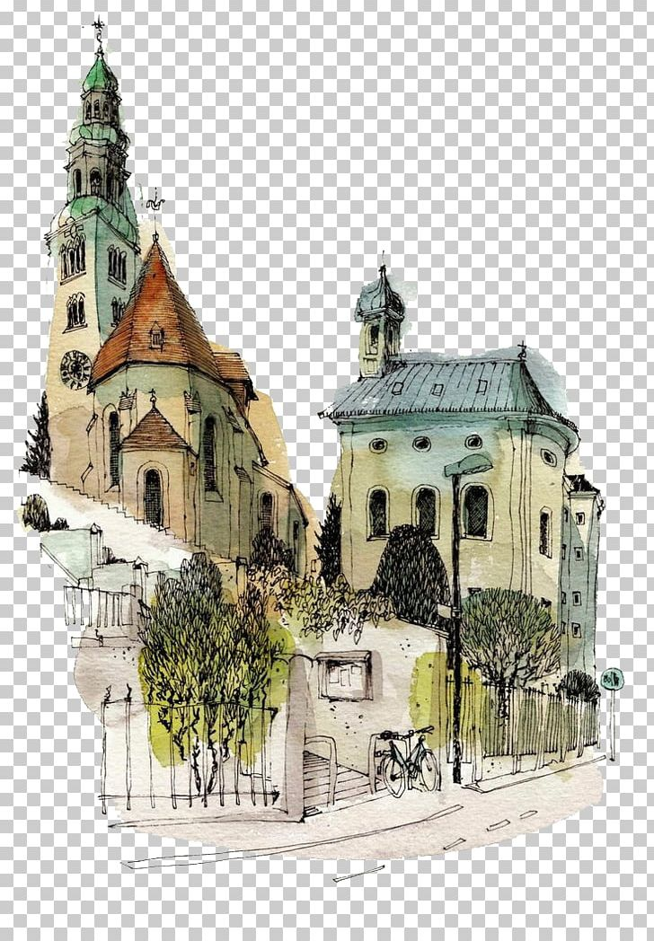Paper Watercolor Painting Drawing Urban Sketchers Sketch PNG, Clipart, Architecture, Art, Building, Drawing, Facade Free PNG Download