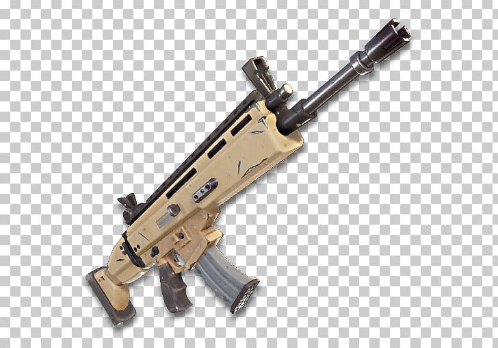 Fortnite Battle Royale FN SCAR Assault Rifle Weapon PNG