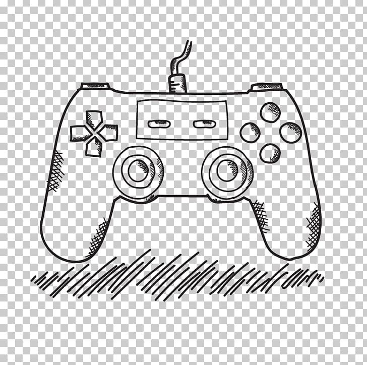 Xbox 360 Controller Game Controller Playstation 4 Drawing Video Game Png Clipart Black Control Design Electronics