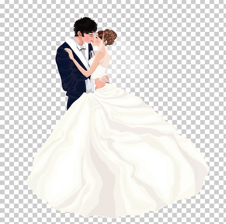 Bride Wedding Dress Marriage Couple Png Clipart Cartoon