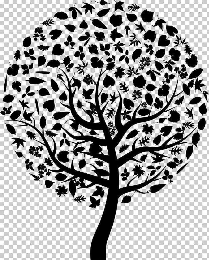 Abstract Tree Clip Art Black And White