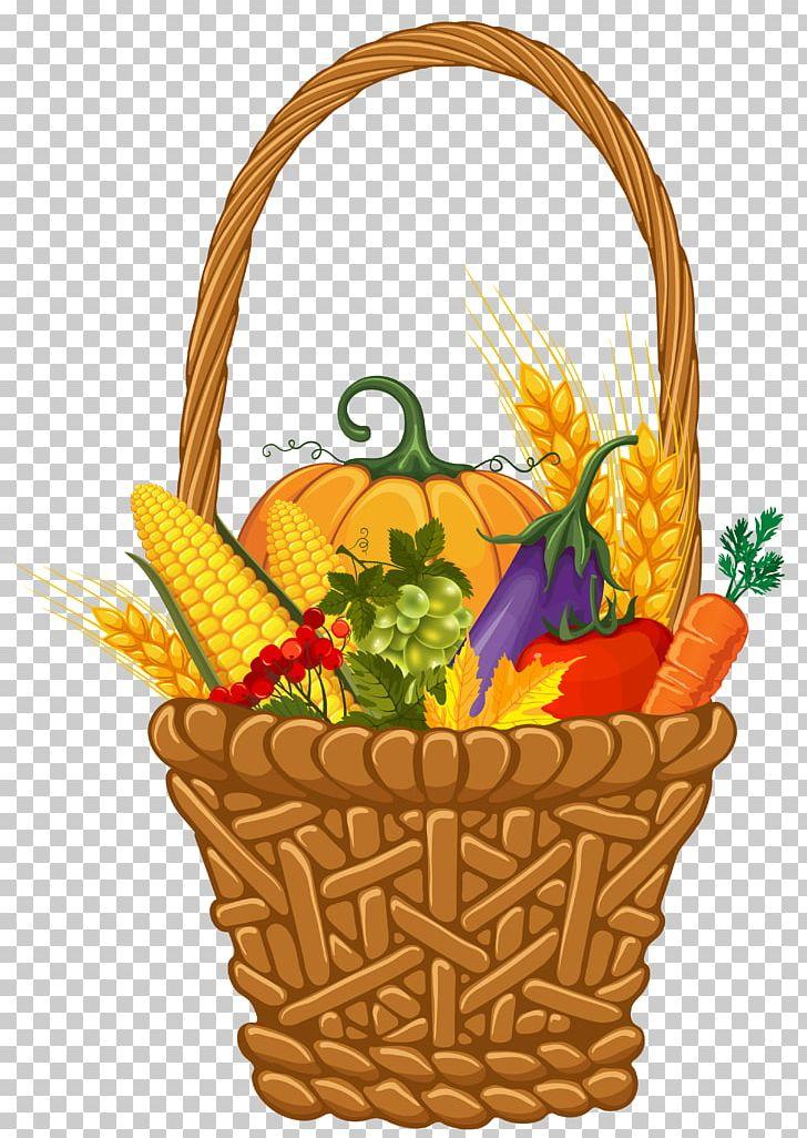 Thanksgiving harvest. Basket autumn png clipart