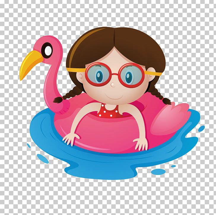 Beach Child Png Clipart Beach Boy Boys Swimming Cartoon Girl Free Png Download