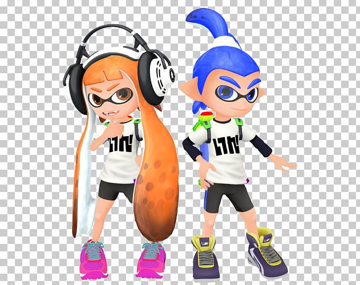 Splatoon 2 Wii U Mikumikudance Squid Girl Png Clipart