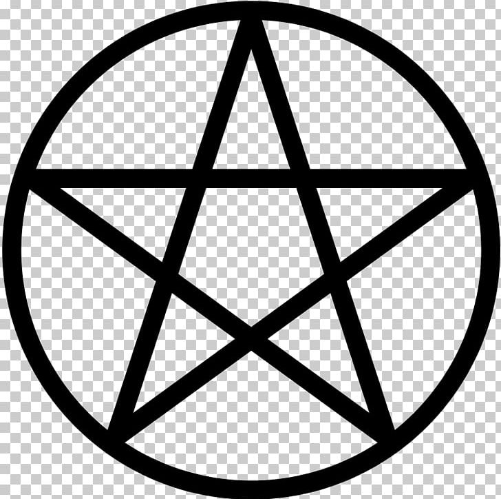 Pentagram Pentacle Wicca Symbol Witchcraft PNG, Clipart, Angle, Area, Black And White, Circle, Classical Element Free PNG Download