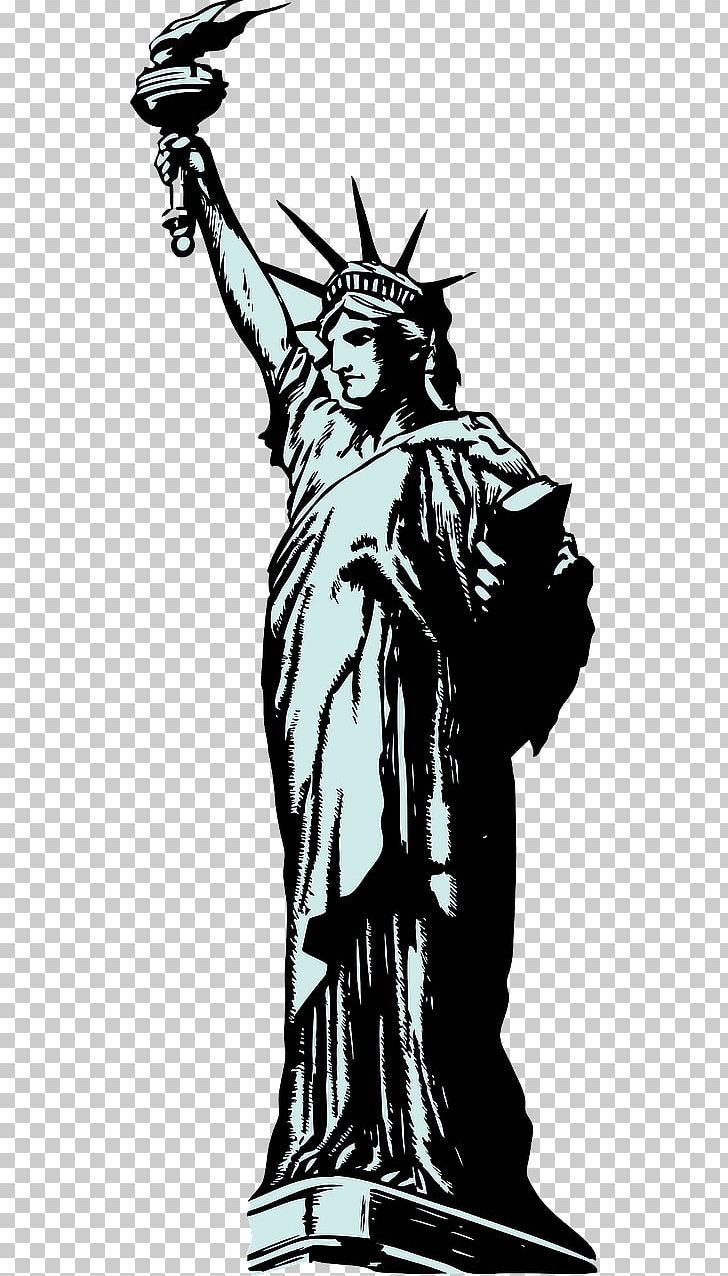 Statue Of Liberty Drawing PNG, Clipart, Art, Artwork, Black And White, Drawing, Fictional Character Free PNG Download