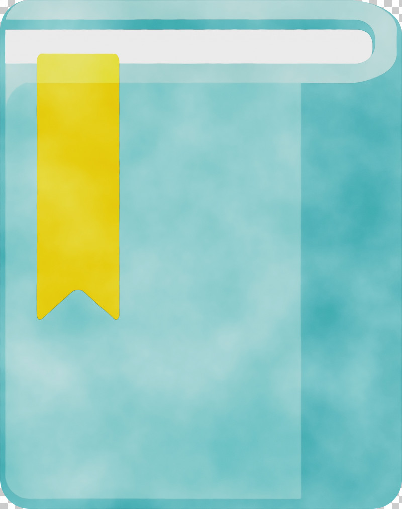 Aqua Turquoise Teal Yellow Rectangle PNG, Clipart, Aqua, Cartoon Book, Paint, Rectangle, School Supplies Free PNG Download