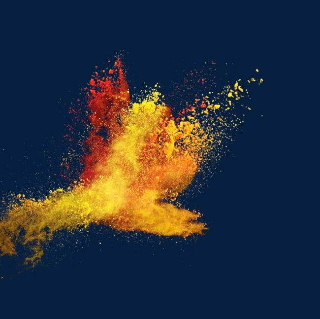 Pour The Splash Of Yellow Red Powder PNG, Clipart, Drift, Dust, Dust Drift, Dust Explosion, Explosion Free PNG Download