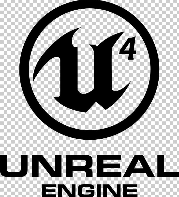 Unreal Engine 4 Game Engine Logo Unreal Match 3 PNG, Clipart, Area, Black And White, Brand, Circle, Computer Software Free PNG Download