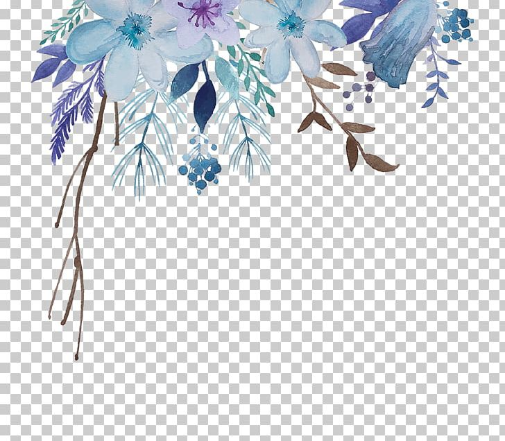 Watercolor: Flowers Watercolour Flowers Watercolor Painting Graphics PNG, Clipart, Blue, Branch, Desktop Wallpaper, Drawing, Flora Free PNG Download