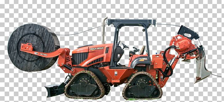 Tractor Machine Trencher Ditch Witch Plough PNG, Clipart