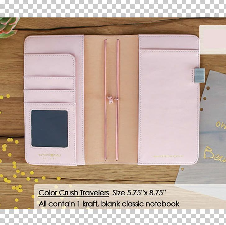 Notebook Personal Organizer Gold Wood Stain Platinum PNG