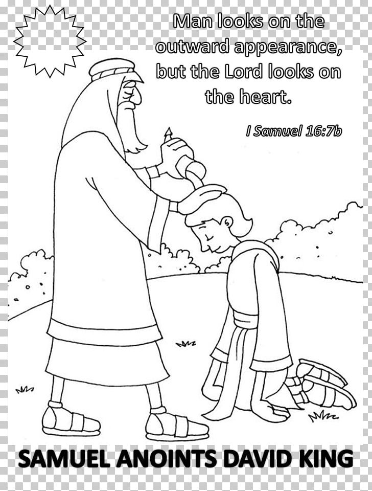 Books Of Samuel Bible Story Coloring Book Anointing PNG, Clipart ...