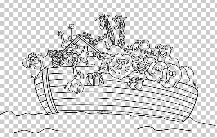 Noah\'s Ark Bible Story Coloring Book Child PNG, Clipart ...