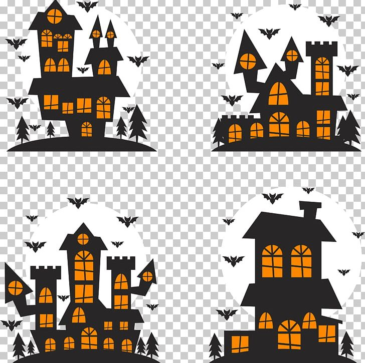 Halloween Silhouette Illustration PNG, Clipart, Cartoon, Castle, Castle Vector, Design Vector, Drawing Free PNG Download