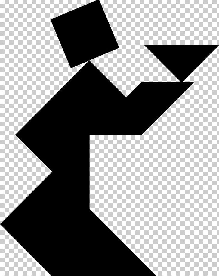 Jigsaw Puzzles Tangram PNG, Clipart, Angle, Black, Black And White, Clip Art, Computer Icons Free PNG Download