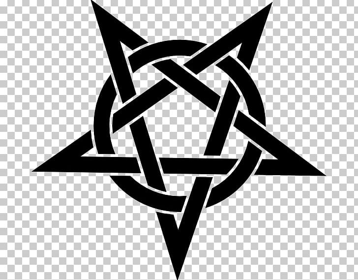 Pentagram Pentacle Symbol Wicca Satanism PNG, Clipart, Angle, Black And White, Brand, Drawing, Line Free PNG Download