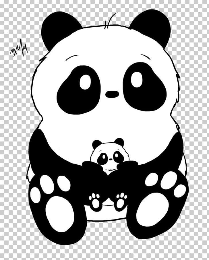 Bear panda. Giant pandas drawing doodle