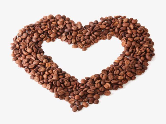 Peach Heart Shaped Coffee Beans PNG, Clipart, Beans, Beans