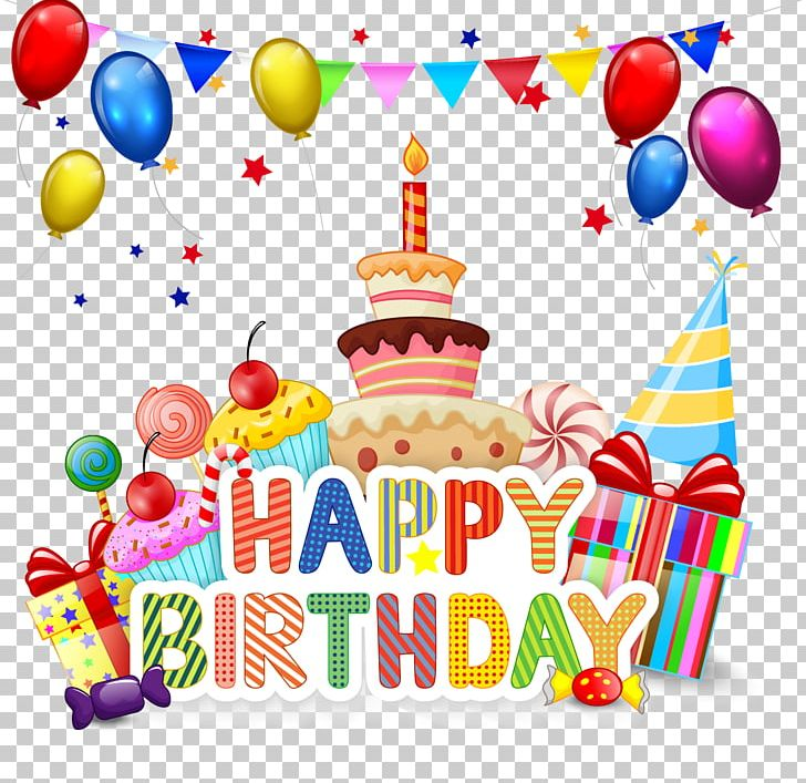 Birthday Cake Cupcake Cartoon PNG, Clipart, Balloon, Birthday, Birthday Background, Birthday Card, Birthday Elements Free PNG Download