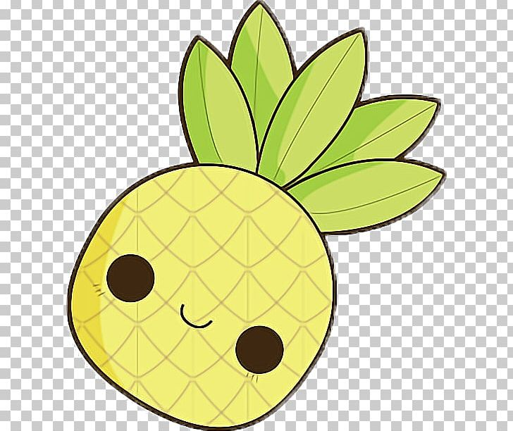 Pineapple Drawing Kawaii Tropical Fruit Png Clipart Ananas
