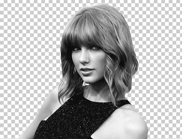 Taylor Swift Fearless Tour Reputation Png Clipart Bangs Beauty Black And White Black Hair Blond Free