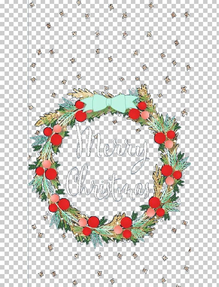 Christmas wreath floral. Small background png clipart