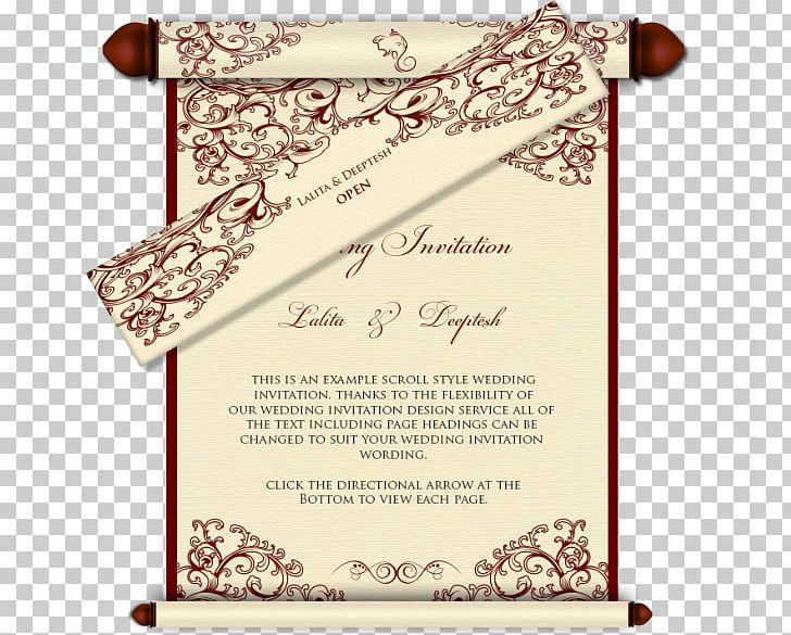 Wedding Invitation India Scroll Hindu Wedding Png Clipart