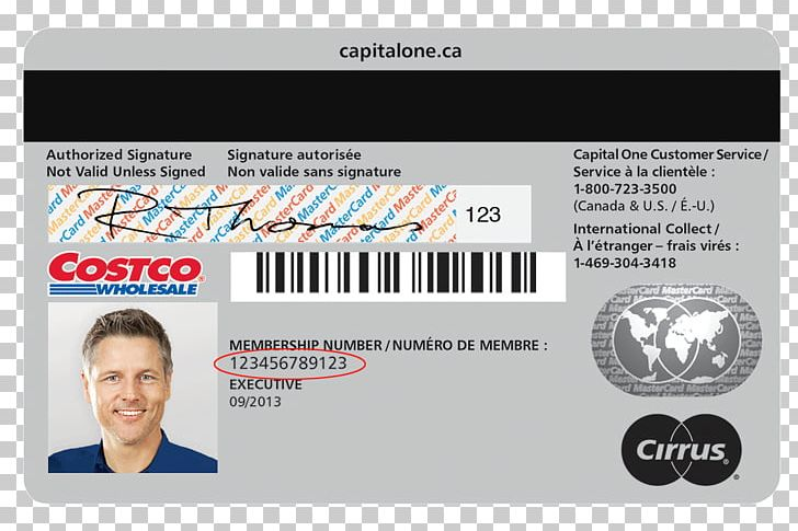 Credit Card Business Cards Capital One Costco Money PNG
