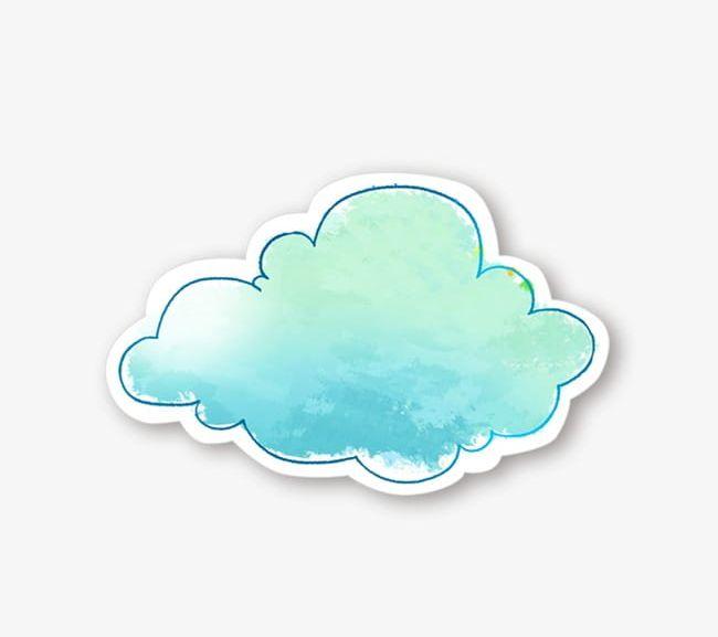 Watercolor Blue Clouds PNG, Clipart, Blue, Blue Clipart, Blue