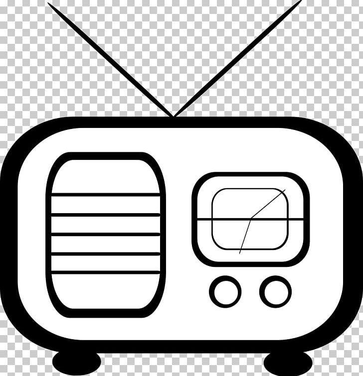 Radio Png Clipart Angle Antique Radio Area Black And White Cartoon Free Png Download