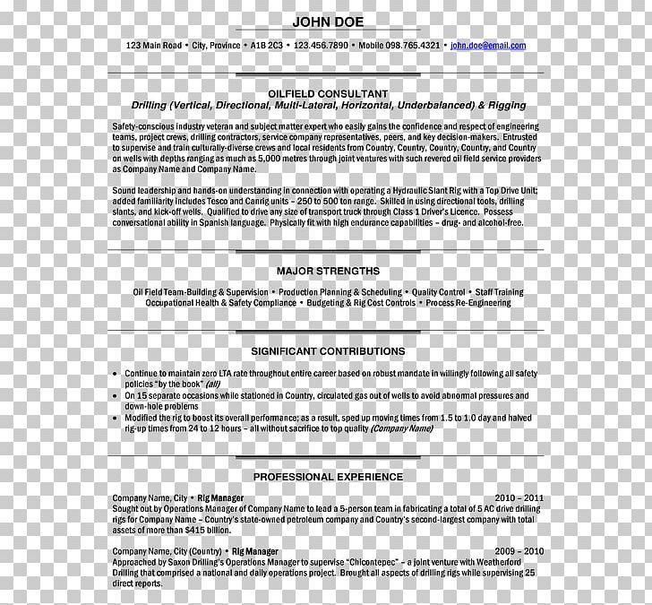 Résumé Template Project Manager Cover Letter Job Description ...