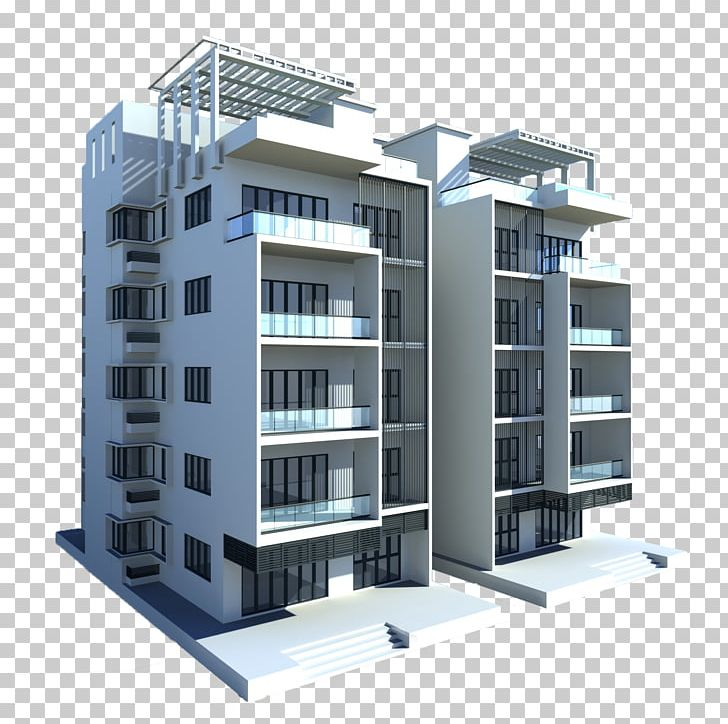 Ranchi Architecture Commercial Building 3D Modeling PNG
