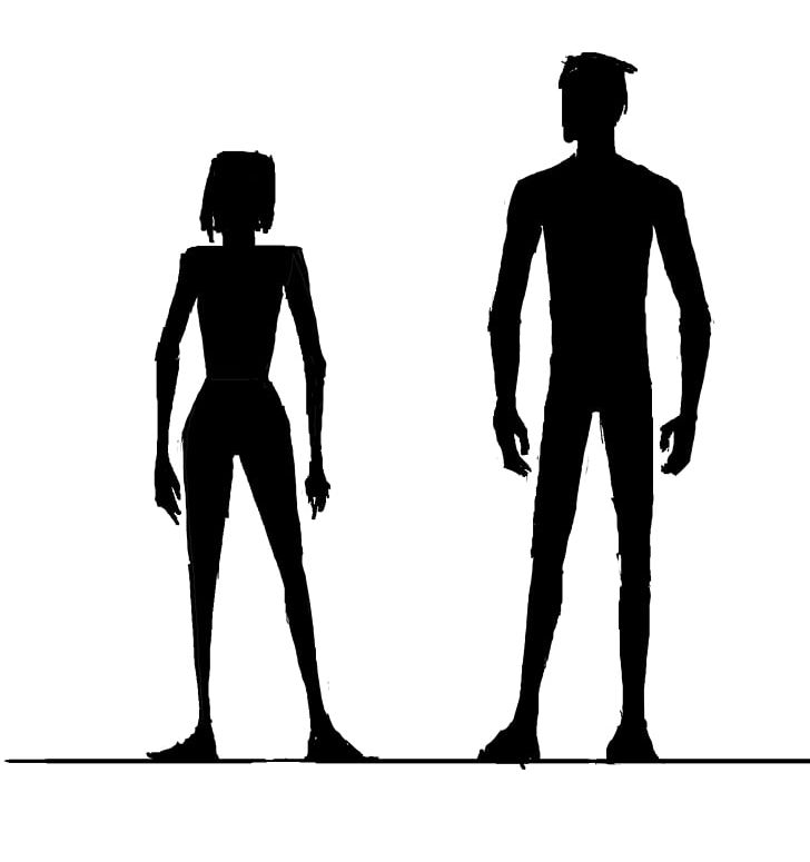 Body shape. Female silhouette human png