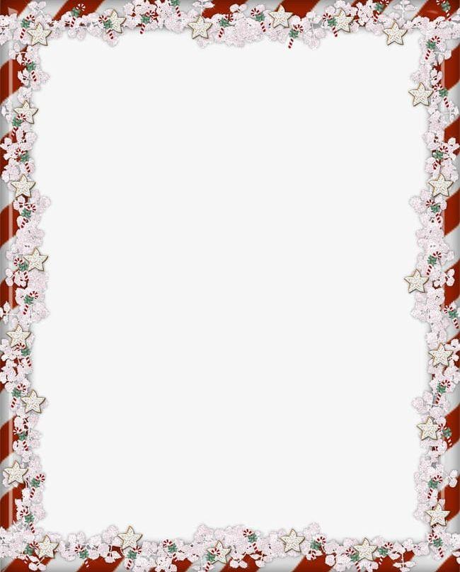 Christmas decoration clip art borders flowers
