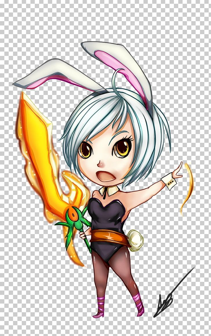 Riven League Of Legends Video Game Chibi Mangaka Png Clipart Art