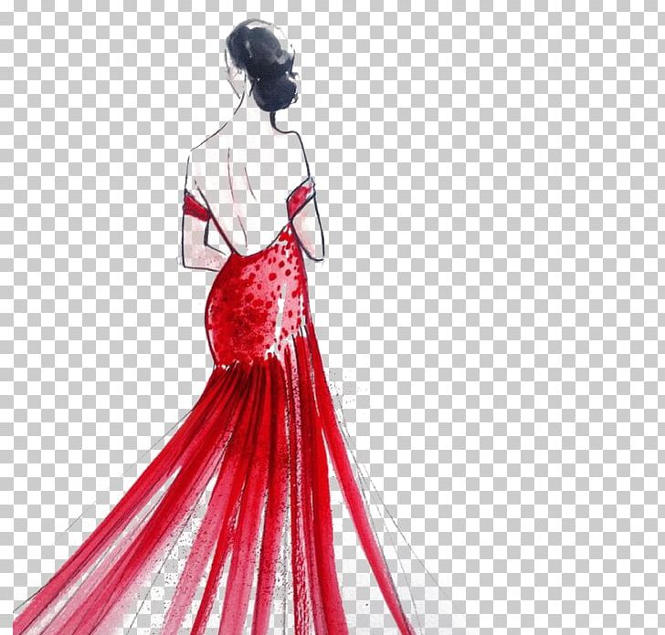 Dress Fashion Drawing Illustration Png Clipart Art Beautiful Fashion Design Fashion Illustration Fashion Model Free Png