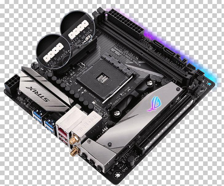 Socket AM4 Mini-ITX Motherboard Republic Of Gamers ASUS PNG