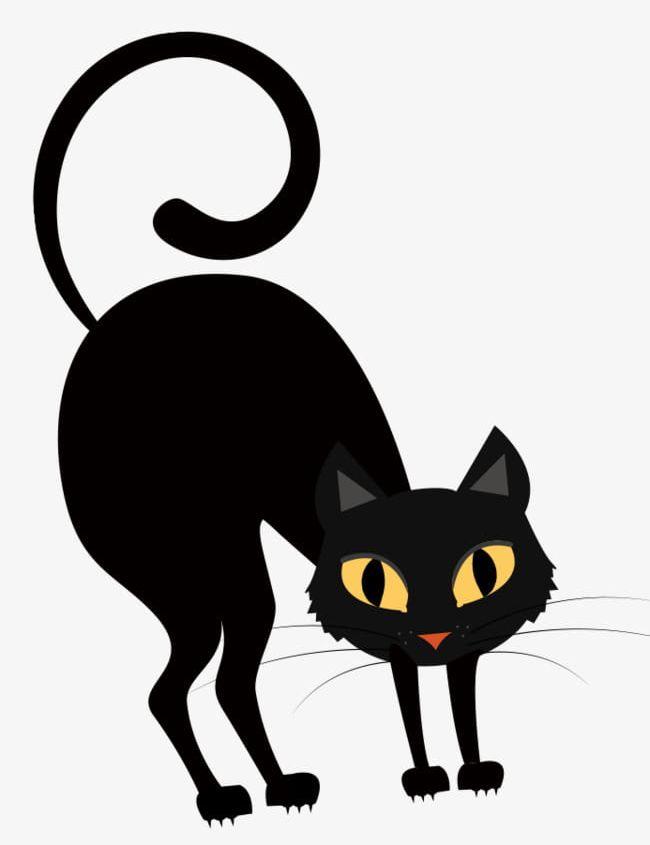 A Little Horror Dark Night Black Cat PNG, Clipart, A Bit ... (650 x 845 Pixel)