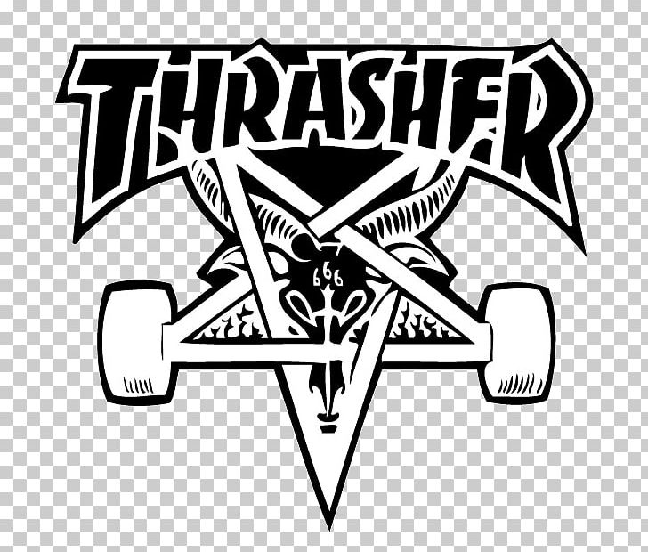 Thrasher Skateboarding Hoodie Sticker PNG, Clipart, Angle, Area, Art, Baseball Cap, Black Free PNG Download