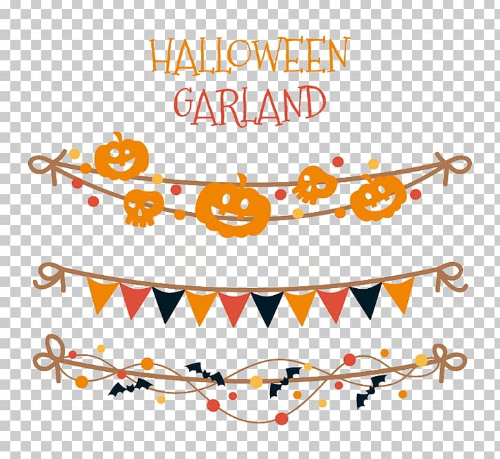 Halloween Garland PNG, Clipart, American Flag, Area, Banner, Christmas, Circle Free PNG Download