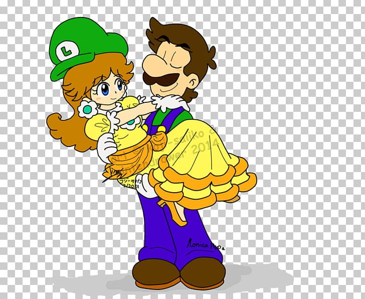 Luigi daisy. Princess super mario peach