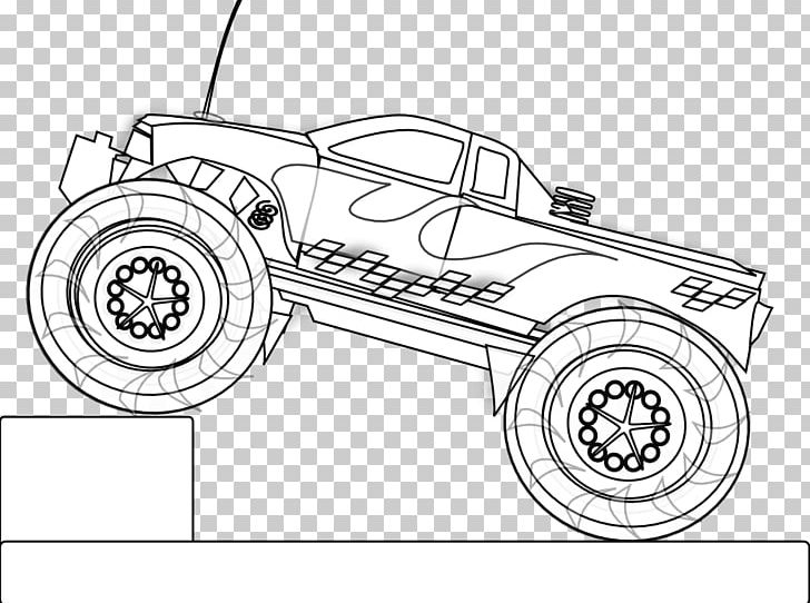 Radio-controlled Car Coloring Book Truck Radio Control PNG ...
