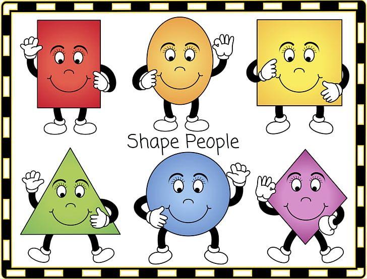 Circle cartoon. Geometric shape shapes are
