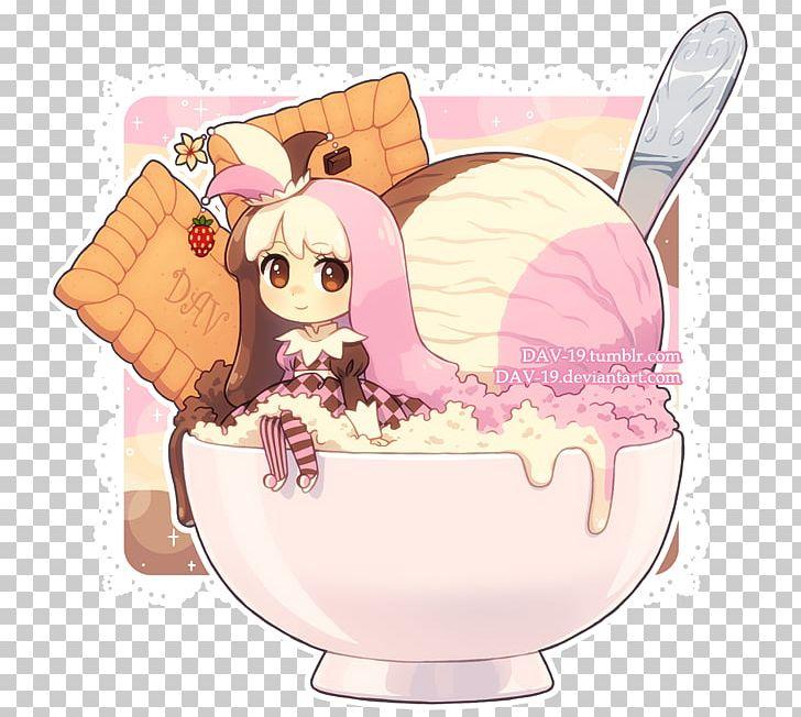 Chibi Neapolitan Ice Cream Milk PNG, Clipart, Animation ...