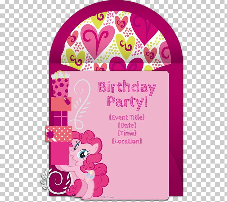 Wedding Invitation Pinkie Pie My Little Pony Party Png